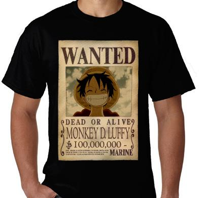 Kaos Wanted Monkey D. Luffy