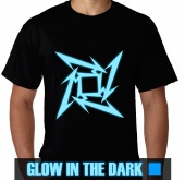 Kaos Glow In The Dark Logo Metallica