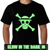 Kaos Glow In The Dark Logo One Piece