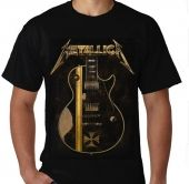 Kaos Metallica Iron Cross Guitar James Hetfield
