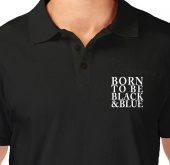 Kaos Polo Born To Be Black Blue