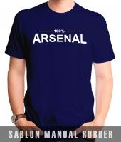 Kaos Sablon 100% Arsenal