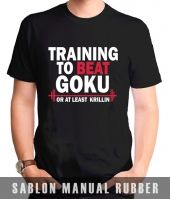 Kaos Sablon Dragon Ball Gym 2