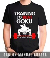 Kaos  Sablon Dragon Ball Gym