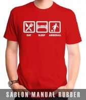 Kaos Sablon Eat Sleep Arsenal