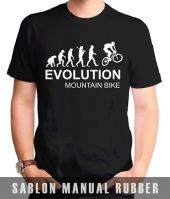 Kaos Sablon Evolution Mountain Bike