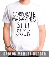 Kaos Sablon Kurt cobain Corporate Magazines