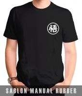 Kaos Sablon Logo Dragon Ball z Train Insaiyan