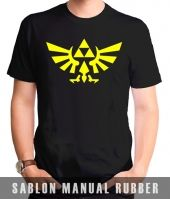 Kaos Sablon Logo Legend of Zelda