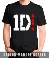 Kaos Sablon Logo One Direction