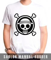 Kaos Sablon Logo One Piece 1