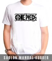 Kaos Sablon Logo One Piece 2