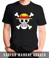 Kaos Sablon Logo One Piece 4