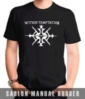 Kaos Sablon Logo Within Temptation