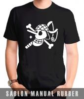 Kaos Sablon  One Piece 13