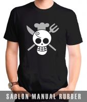Kaos Sablon  One Piece 17