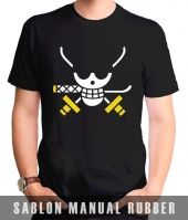 Kaos Sablon  One Piece 6