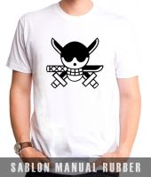 Kaos Sablon  One Piece 7
