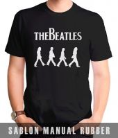 Kaos Sablon The Beatles Abbey Road