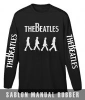Kaos Sablon The Beatles Lengan Panjang