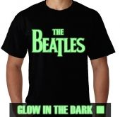 Kaos Glow In The Dark Tulisan The Beatles